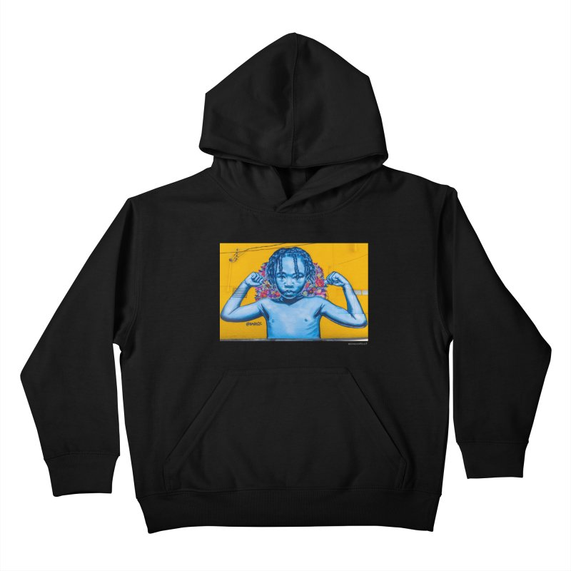 "Brandan ""Bmike"" Odums ""Survival Against All Odds"" for WonderRoot's Off The Wall Kids Pullover Hoody by WonderRoot's Artist Shop"