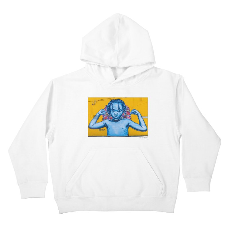 """Brandan """"Bmike"""" Odums """"Survival Against All Odds"""" for WonderRoot's Off The Wall Kids Pullover Hoody by WonderRoot's Artist Shop"""