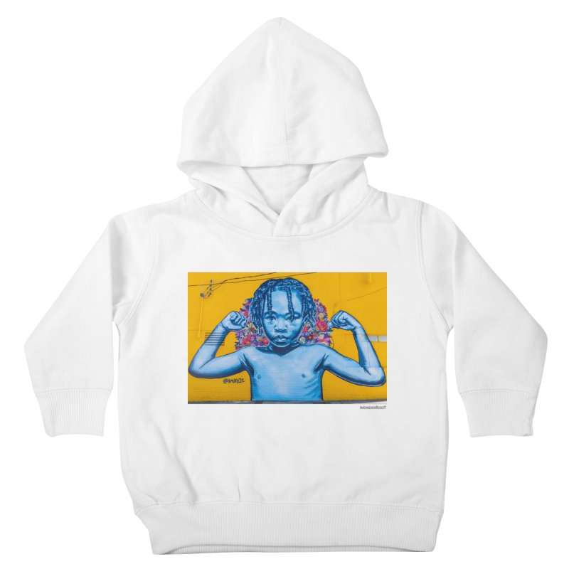 "Brandan ""Bmike"" Odums ""Survival Against All Odds"" for WonderRoot's Off The Wall in Kids Toddler Pullover Hoody White by WonderRoot's Artist Shop"