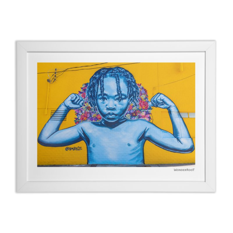 "Brandan ""Bmike"" Odums ""Survival Against All Odds"" for WonderRoot's Off The Wall Home Framed Fine Art Print by WonderRoot's Artist Shop"