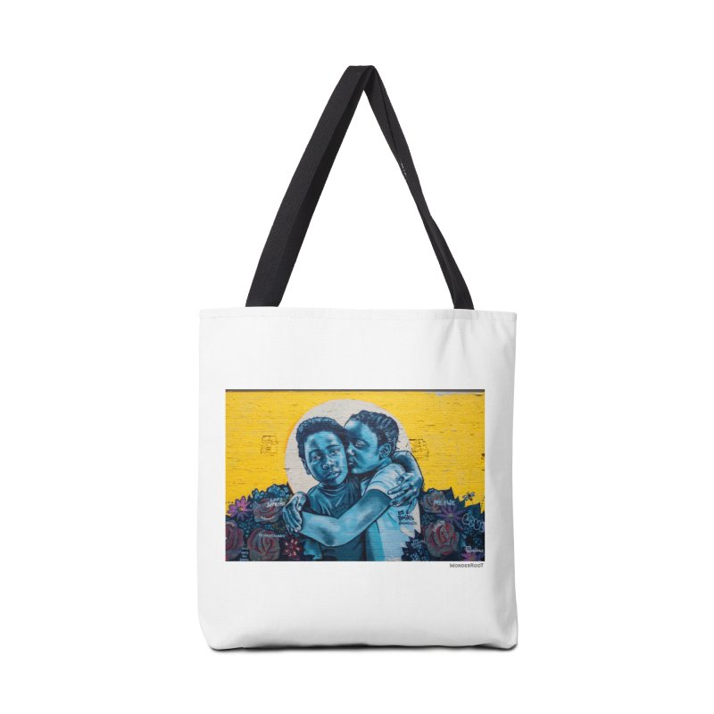 "Brandan ""Bmike"" Odums ""Love & Protection"" for WonderRoot's Off The Wall Accessories Tote Bag Bag by WonderRoot's Artist Shop"
