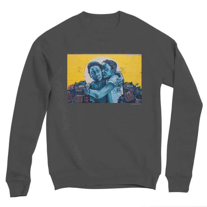 "Brandan ""Bmike"" Odums ""Love & Protection"" for WonderRoot's Off The Wall Women's Sponge Fleece Sweatshirt by WonderRoot's Artist Shop"