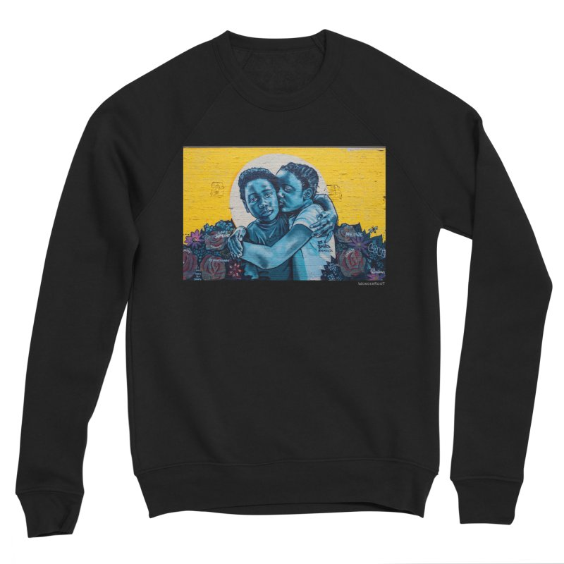 "Brandan ""Bmike"" Odums ""Love & Protection"" for WonderRoot's Off The Wall Women's Sponge Fleece Sweatshirt by WonderRoot's Artist Shop"