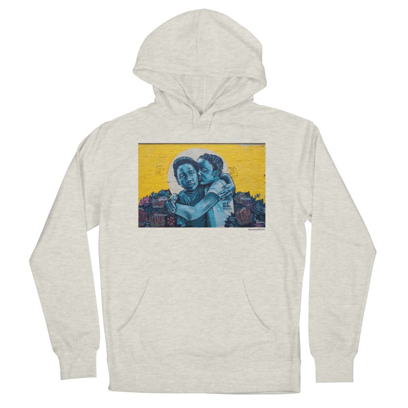"""Brandan """"Bmike"""" Odums """"Love & Protection"""" for WonderRoot's Off The Wall Women's French Terry Pullover Hoody by WonderRoot's Artist Shop"""