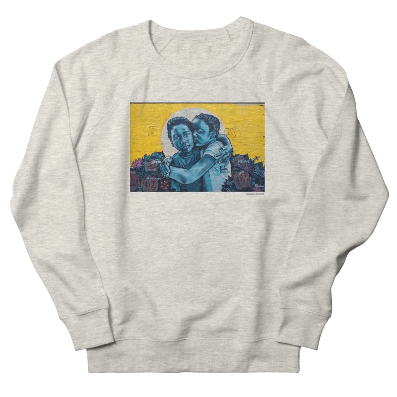 "Brandan ""Bmike"" Odums ""Love & Protection"" for WonderRoot's Off The Wall Men's French Terry Sweatshirt by WonderRoot's Artist Shop"
