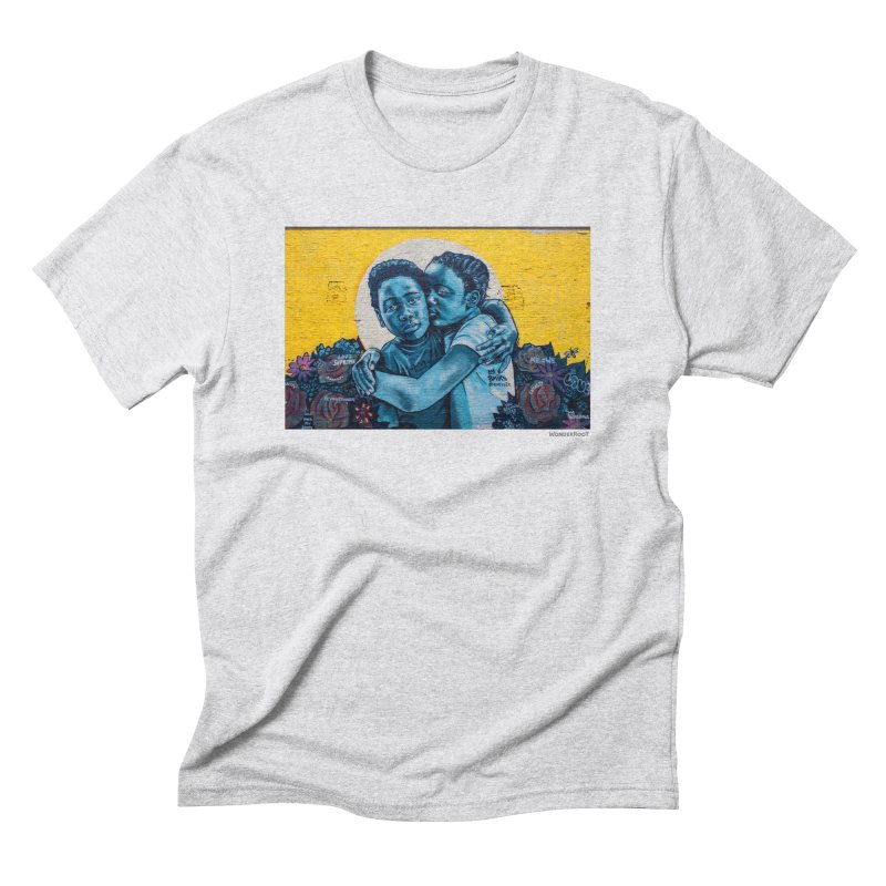 "Brandan ""Bmike"" Odums ""Love & Protection"" for WonderRoot's Off The Wall Men's Triblend T-Shirt by WonderRoot's Artist Shop"