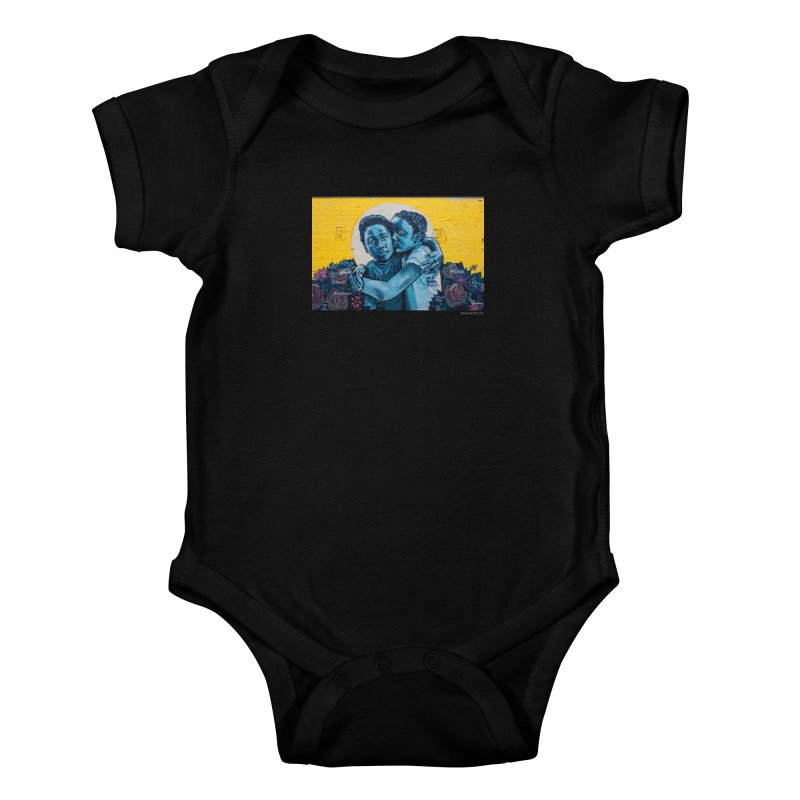 "Brandan ""Bmike"" Odums ""Love & Protection"" for WonderRoot's Off The Wall Kids Baby Bodysuit by WonderRoot's Artist Shop"