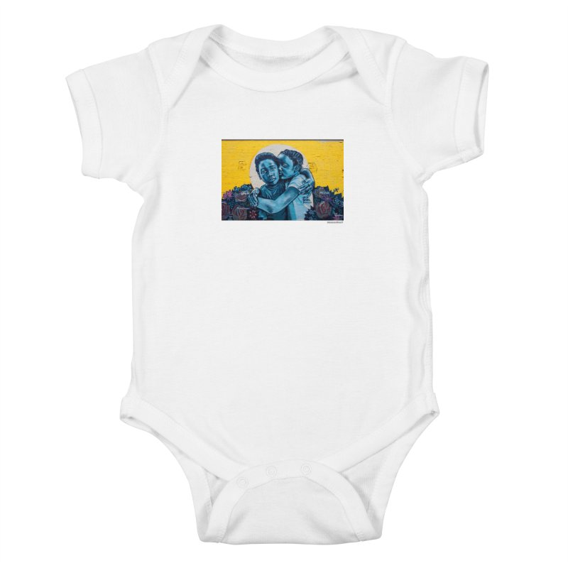 """Brandan """"Bmike"""" Odums """"Love & Protection"""" for WonderRoot's Off The Wall Kids Baby Bodysuit by WonderRoot's Artist Shop"""
