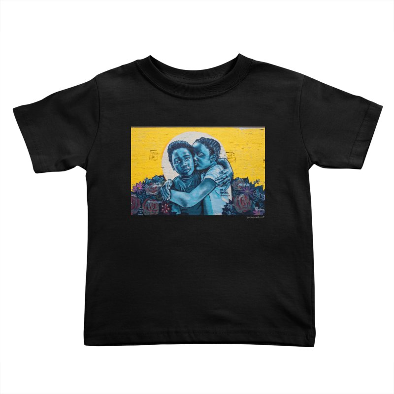 """Brandan """"Bmike"""" Odums """"Love & Protection"""" for WonderRoot's Off The Wall Kids Toddler T-Shirt by WonderRoot's Artist Shop"""