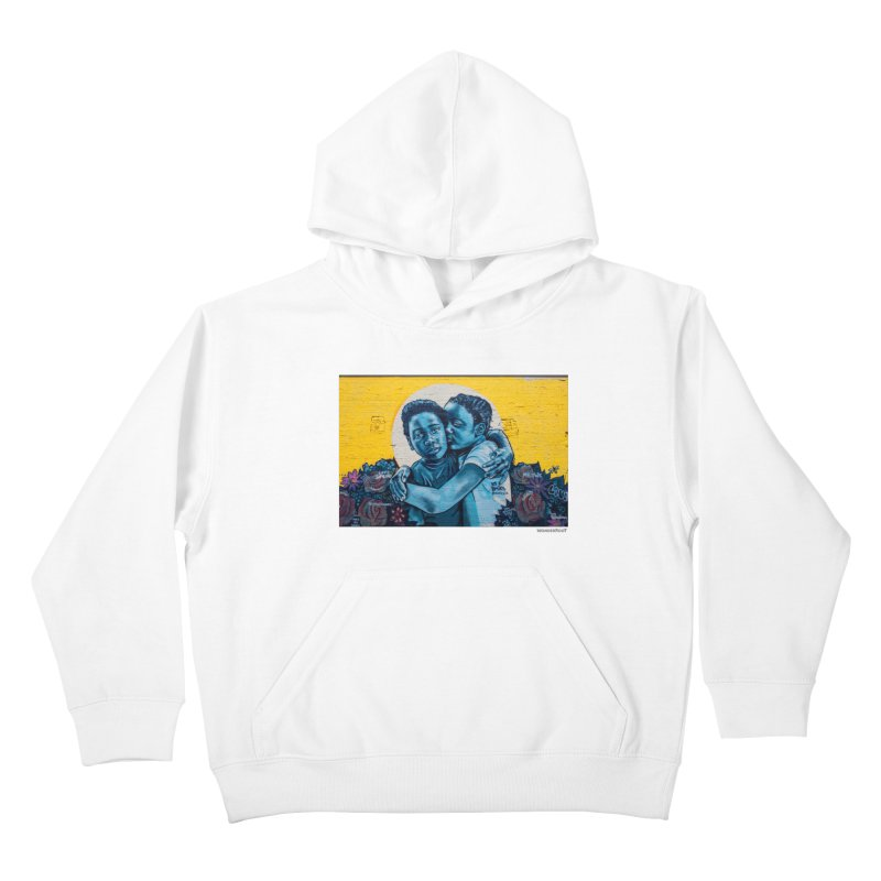"Brandan ""Bmike"" Odums ""Love & Protection"" for WonderRoot's Off The Wall Kids Pullover Hoody by WonderRoot's Artist Shop"