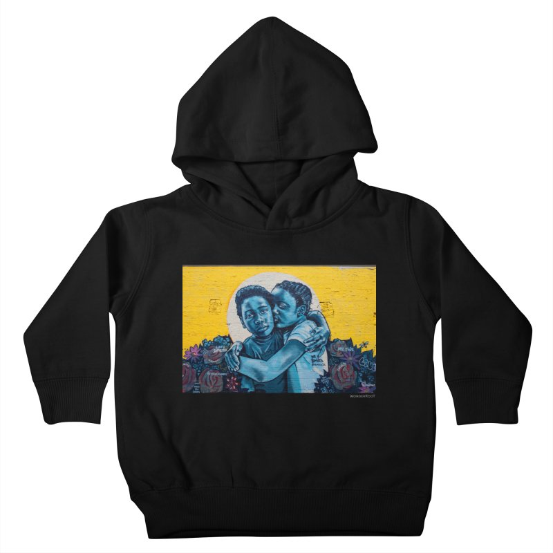 """Brandan """"Bmike"""" Odums """"Love & Protection"""" for WonderRoot's Off The Wall Kids Toddler Pullover Hoody by WonderRoot's Artist Shop"""