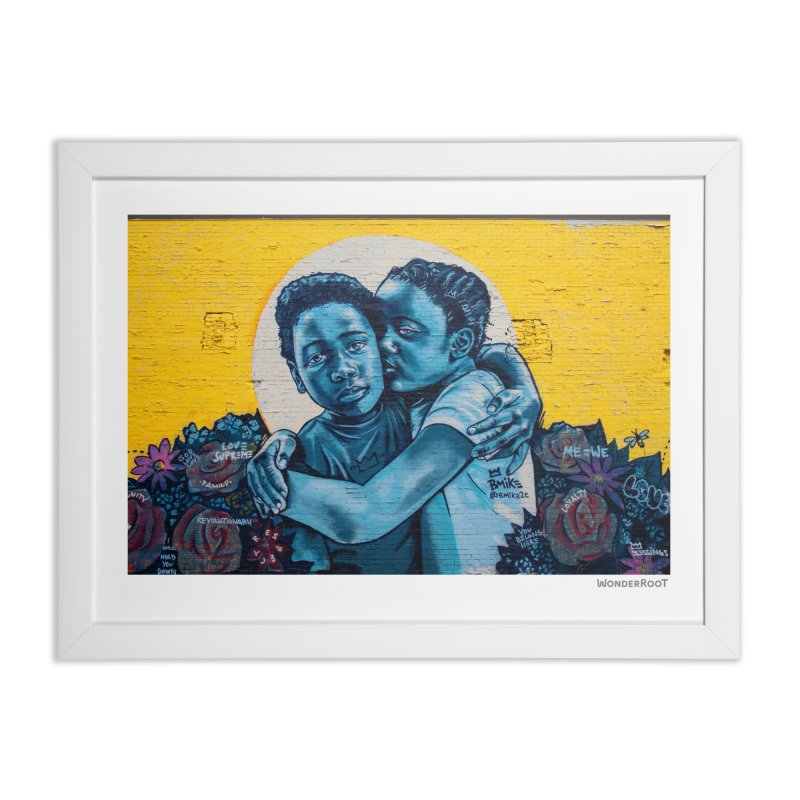 "Brandan ""Bmike"" Odums ""Love & Protection"" for WonderRoot's Off The Wall Home Framed Fine Art Print by WonderRoot's Artist Shop"