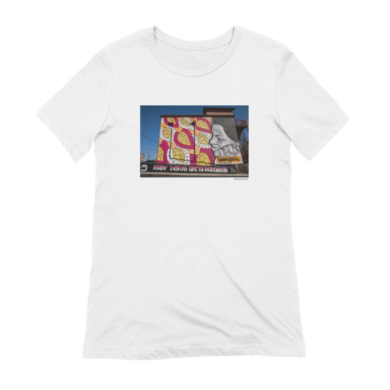 "Charmaine Minniefield ""Visionary for Justice"" for WonderRoot's Off The Wall Women's Extra Soft T-Shirt by WonderRoot's Artist Shop"