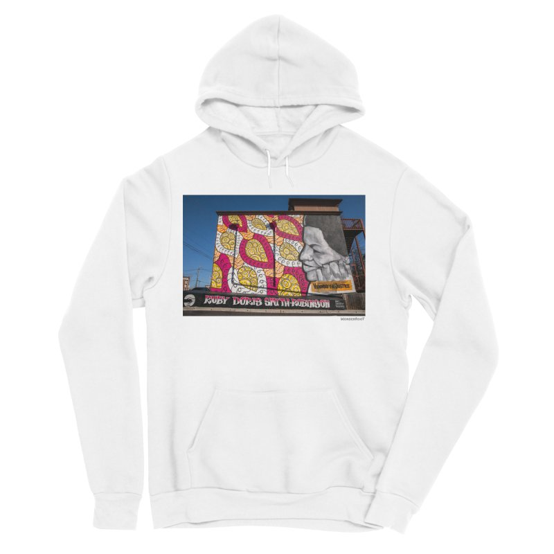 """Charmaine Minniefield """"Visionary for Justice"""" for WonderRoot's Off The Wall Women's Sponge Fleece Pullover Hoody by WonderRoot's Artist Shop"""