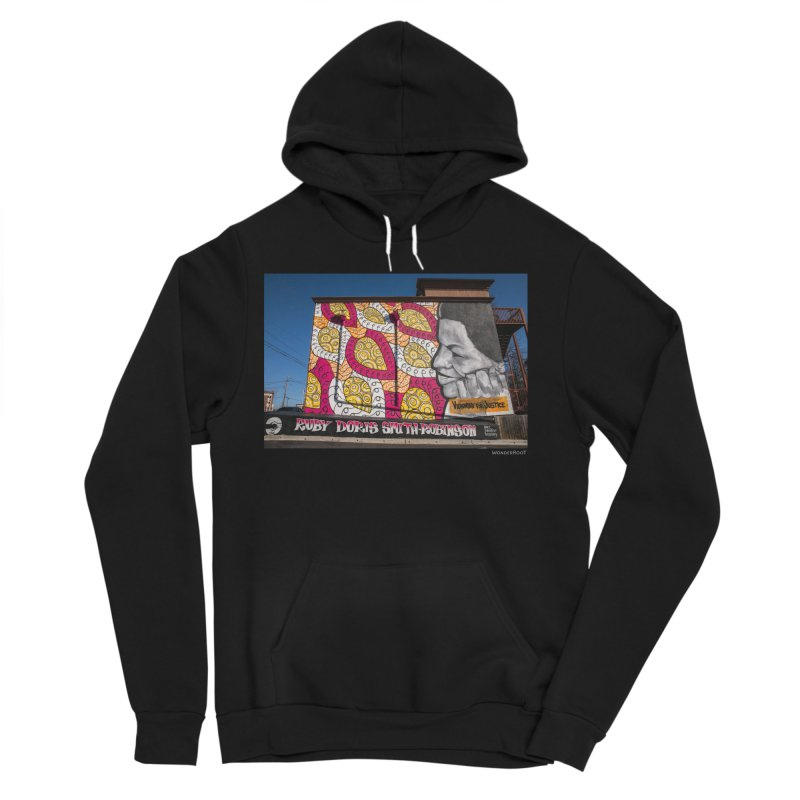 "Charmaine Minniefield ""Visionary for Justice"" for WonderRoot's Off The Wall Men's Sponge Fleece Pullover Hoody by WonderRoot's Artist Shop"