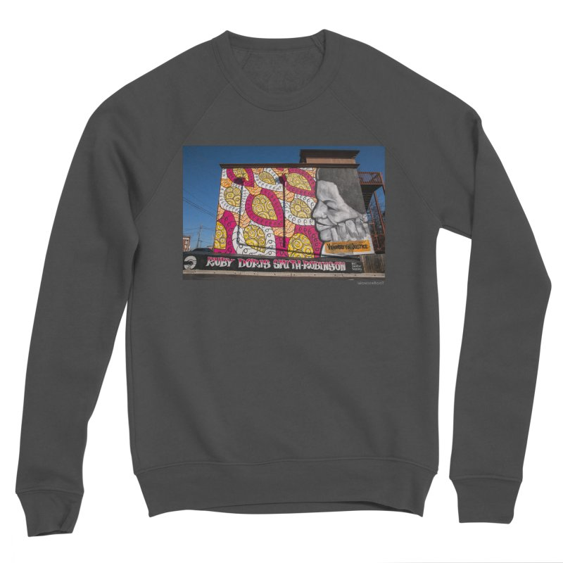 "Charmaine Minniefield ""Visionary for Justice"" for WonderRoot's Off The Wall Women's Sponge Fleece Sweatshirt by WonderRoot's Artist Shop"