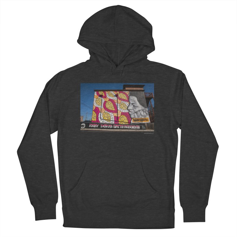 """Charmaine Minniefield """"Visionary for Justice"""" for WonderRoot's Off The Wall Women's French Terry Pullover Hoody by WonderRoot's Artist Shop"""
