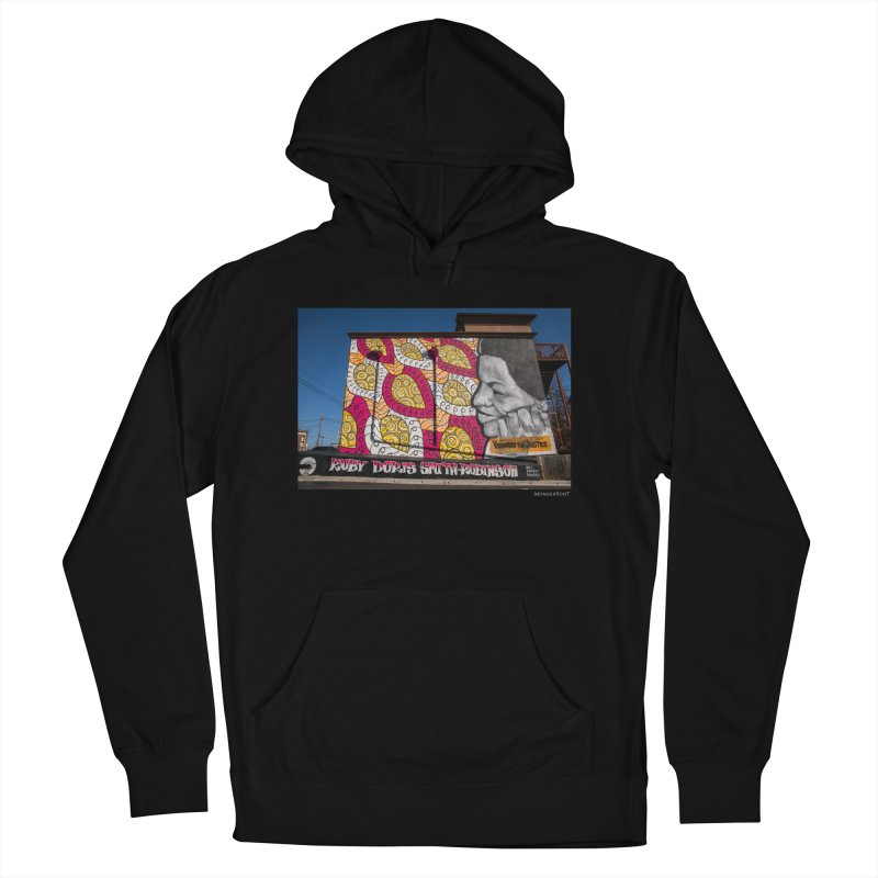 """Charmaine Minniefield """"Visionary for Justice"""" for WonderRoot's Off The Wall Men's French Terry Pullover Hoody by WonderRoot's Artist Shop"""