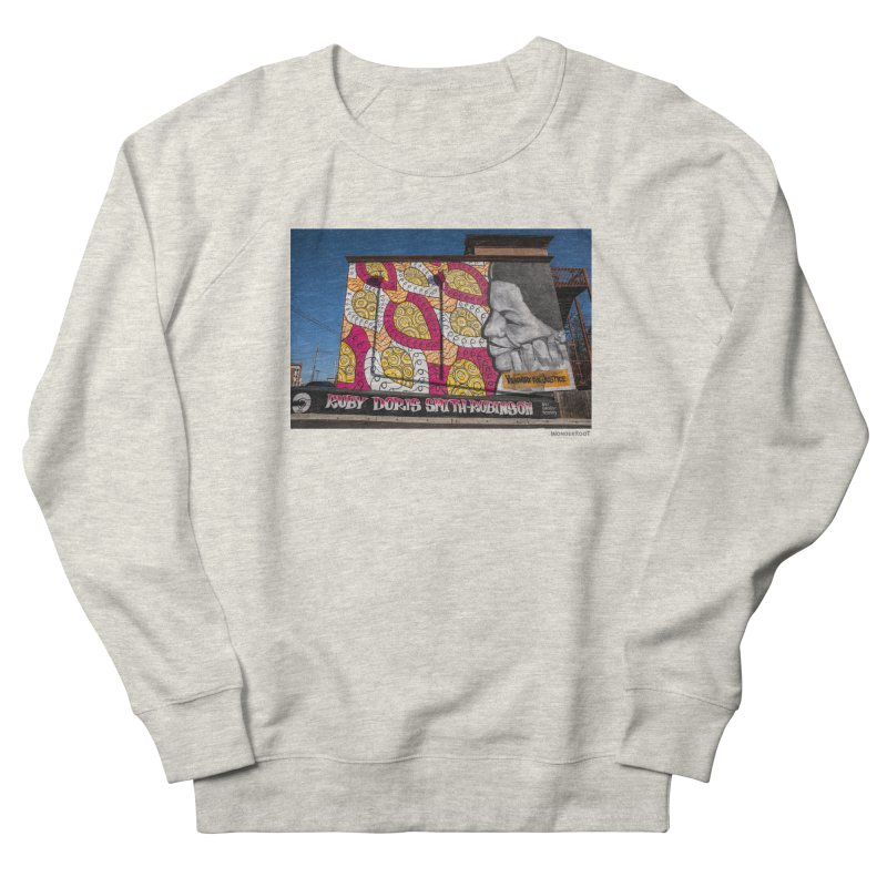 "Charmaine Minniefield ""Visionary for Justice"" for WonderRoot's Off The Wall Men's French Terry Sweatshirt by WonderRoot's Artist Shop"