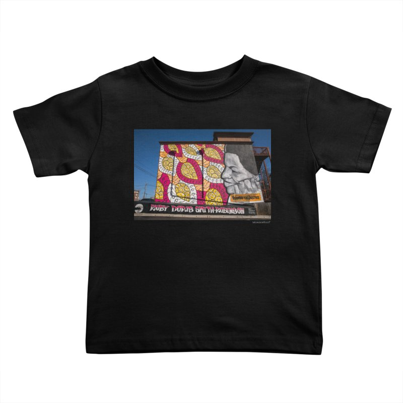 """Charmaine Minniefield """"Visionary for Justice"""" for WonderRoot's Off The Wall Kids Toddler T-Shirt by WonderRoot's Artist Shop"""