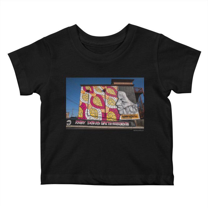 "Charmaine Minniefield ""Visionary for Justice"" for WonderRoot's Off The Wall Kids Baby T-Shirt by WonderRoot's Artist Shop"