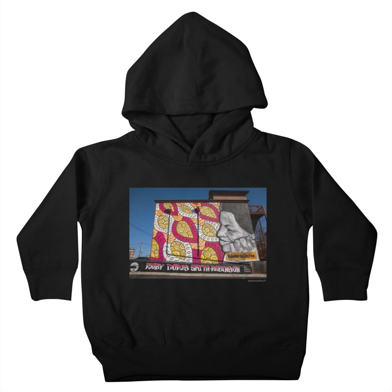 """Charmaine Minniefield """"Visionary for Justice"""" for WonderRoot's Off The Wall Kids Toddler Pullover Hoody by WonderRoot's Artist Shop"""