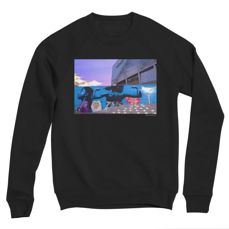 "Ernest Shaw ""Atlanta Strong"" for WonderRoot's Off The Wall in Men's Sponge Fleece Sweatshirt Black by WonderRoot's Artist Shop"
