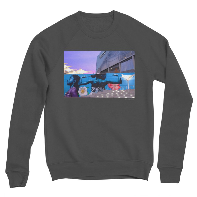 "Ernest Shaw ""Atlanta Strong"" for WonderRoot's Off The Wall Women's Sponge Fleece Sweatshirt by WonderRoot's Artist Shop"