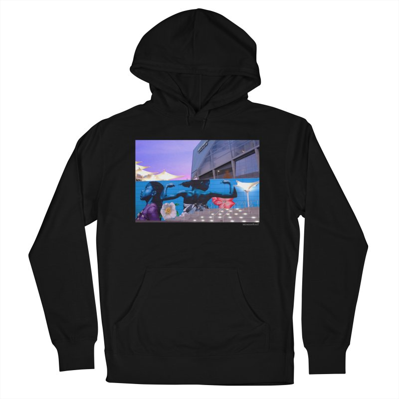 """Ernest Shaw """"Atlanta Strong"""" for WonderRoot's Off The Wall Women's French Terry Pullover Hoody by WonderRoot's Artist Shop"""
