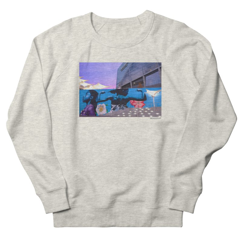 "Ernest Shaw ""Atlanta Strong"" for WonderRoot's Off The Wall Women's French Terry Sweatshirt by WonderRoot's Artist Shop"