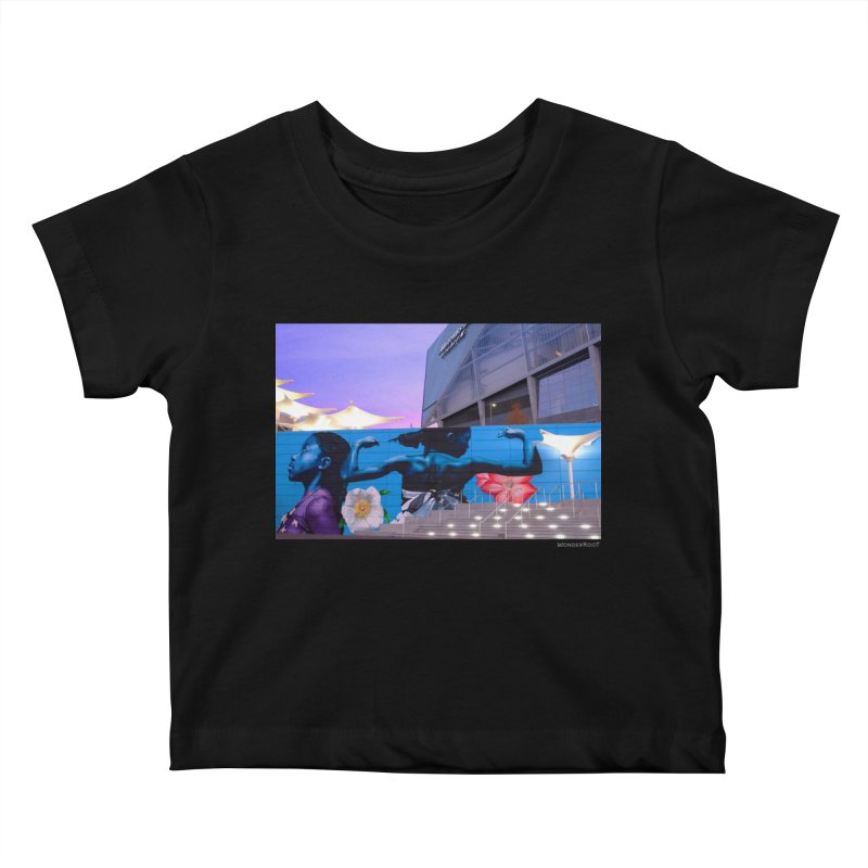 """Ernest Shaw """"Atlanta Strong"""" for WonderRoot's Off The Wall Kids Baby T-Shirt by WonderRoot's Artist Shop"""