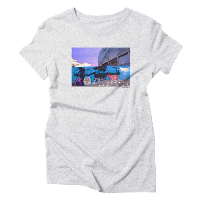 "Ernest Shaw ""Atlanta Strong"" for WonderRoot's Off The Wall Women's Triblend T-Shirt by WonderRoot's Artist Shop"