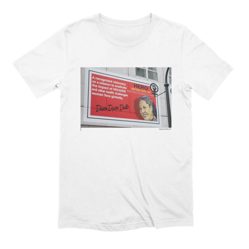 "The Loss Prevention Arts ""Intersectional Hero: Dázon"" for WonderRoot's Off The Wall in Men's Extra Soft T-Shirt White by WonderRoot's Artist Shop"