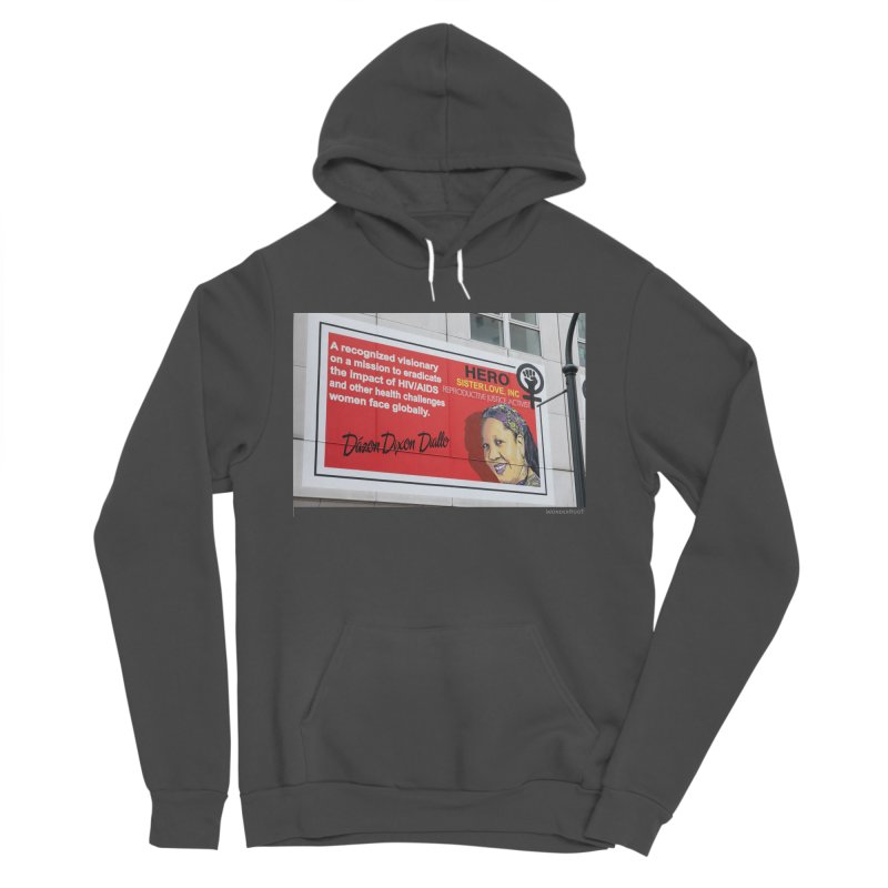 """The Loss Prevention Arts """"Intersectional Hero: Dázon"""" for WonderRoot's Off The Wall Women's Sponge Fleece Pullover Hoody by WonderRoot's Artist Shop"""