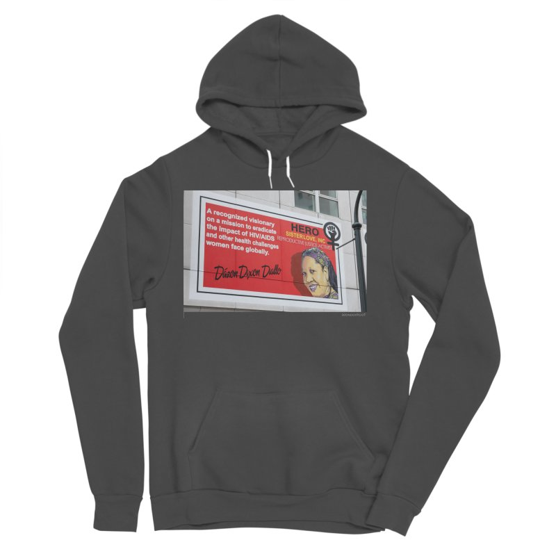 "The Loss Prevention Arts ""Intersectional Hero: Dázon"" for WonderRoot's Off The Wall Men's Sponge Fleece Pullover Hoody by WonderRoot's Artist Shop"