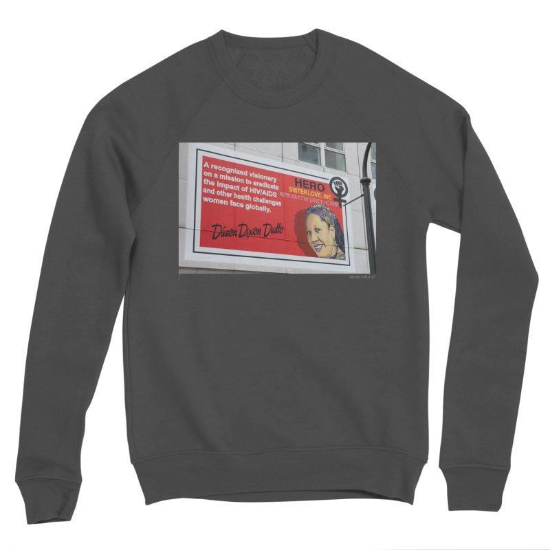 "The Loss Prevention Arts ""Intersectional Hero: Dázon"" for WonderRoot's Off The Wall Men's Sponge Fleece Sweatshirt by WonderRoot's Artist Shop"