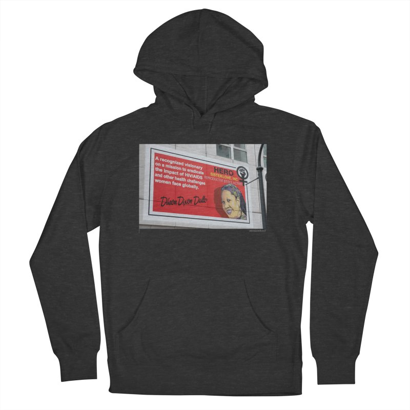 """The Loss Prevention Arts """"Intersectional Hero: Dázon"""" for WonderRoot's Off The Wall Men's French Terry Pullover Hoody by WonderRoot's Artist Shop"""