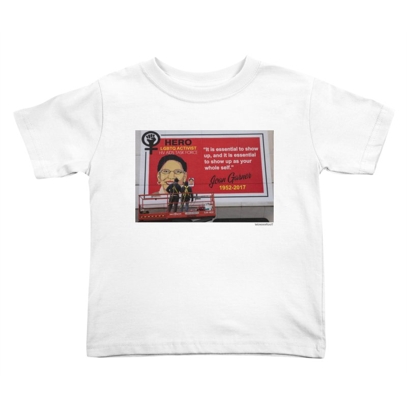 """The Loss Prevention Arts """"Intersectional Hero: Joan"""" Installation Shot for WonderRoot's Off The Wall Kids Toddler T-Shirt by WonderRoot's Artist Shop"""