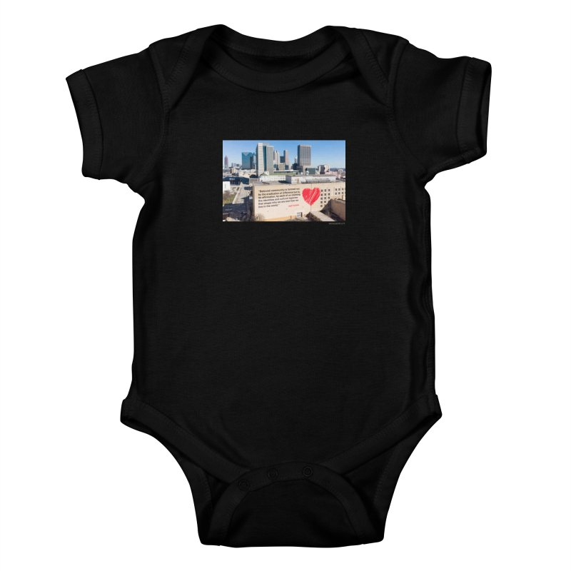 "The Loss Prevention Arts ""Beloved Community"" for WonderRoot's Off The Wall Kids Baby Bodysuit by WonderRoot's Artist Shop"