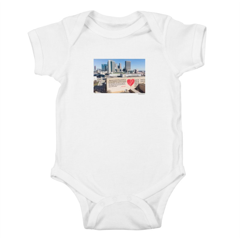 """The Loss Prevention Arts """"Beloved Community"""" for WonderRoot's Off The Wall Kids Baby Bodysuit by WonderRoot's Artist Shop"""