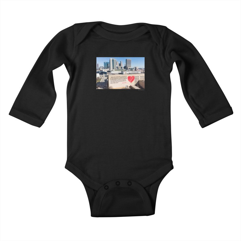 "The Loss Prevention Arts ""Beloved Community"" for WonderRoot's Off The Wall Kids Baby Longsleeve Bodysuit by WonderRoot's Artist Shop"