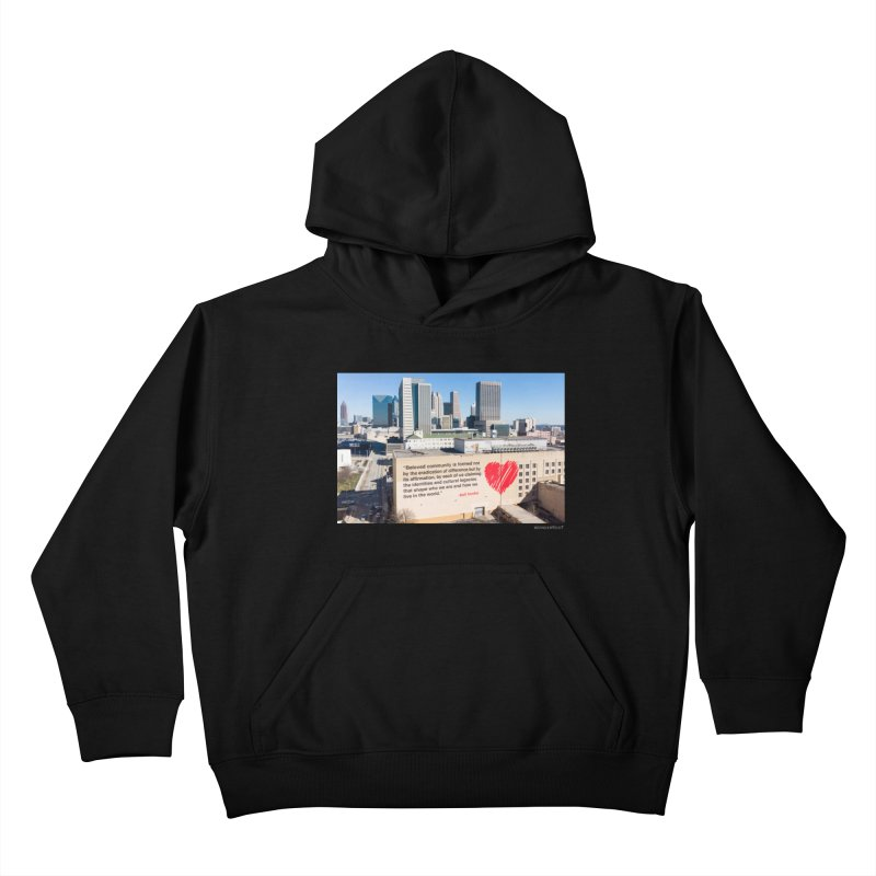 "The Loss Prevention Arts ""Beloved Community"" for WonderRoot's Off The Wall Kids Pullover Hoody by WonderRoot's Artist Shop"
