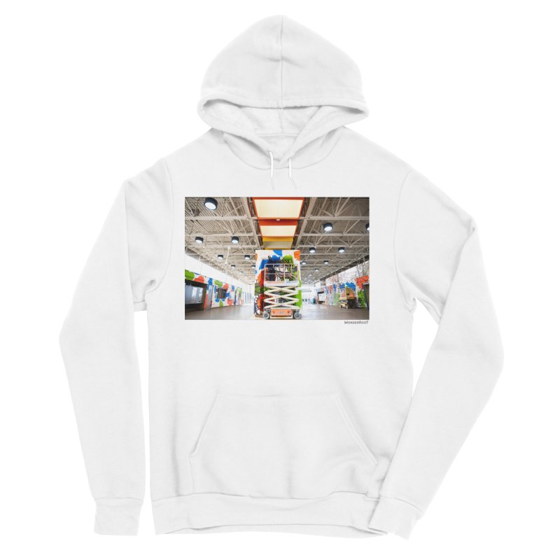 """Shanequa Gay """"Excuse Me While I Kiss The Sky"""" Installation Photo for WonderRoot's Off The Wall Women's Sponge Fleece Pullover Hoody by WonderRoot's Artist Shop"""