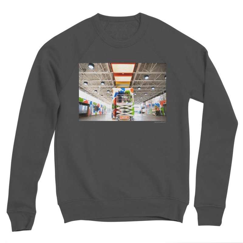 """Shanequa Gay """"Excuse Me While I Kiss The Sky"""" Installation Photo for WonderRoot's Off The Wall Women's Sponge Fleece Sweatshirt by WonderRoot's Artist Shop"""