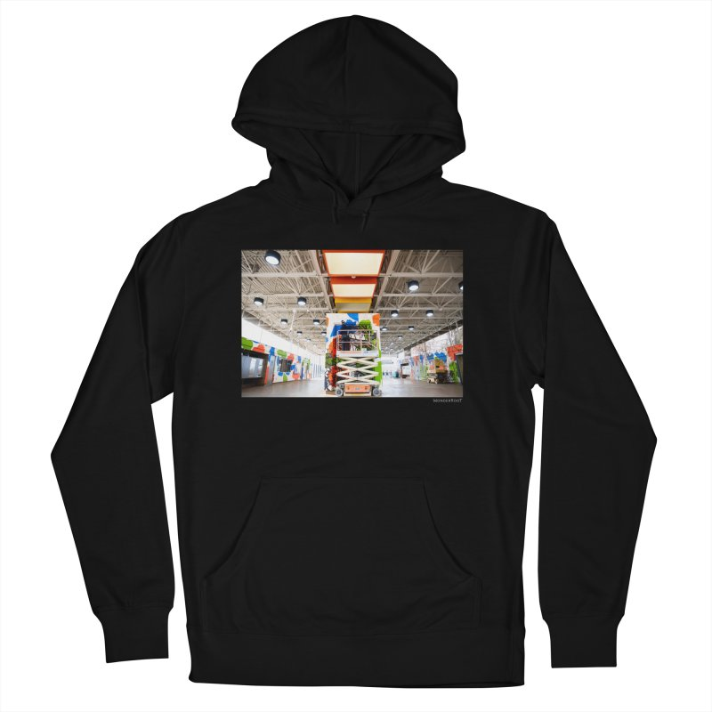 """Shanequa Gay """"Excuse Me While I Kiss The Sky"""" Installation Photo for WonderRoot's Off The Wall Men's French Terry Pullover Hoody by WonderRoot's Artist Shop"""