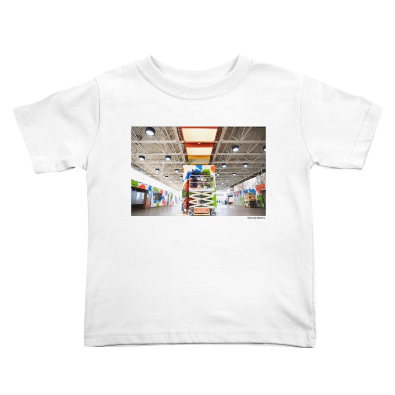 """Shanequa Gay """"Excuse Me While I Kiss The Sky"""" Installation Photo for WonderRoot's Off The Wall Kids Toddler T-Shirt by WonderRoot's Artist Shop"""