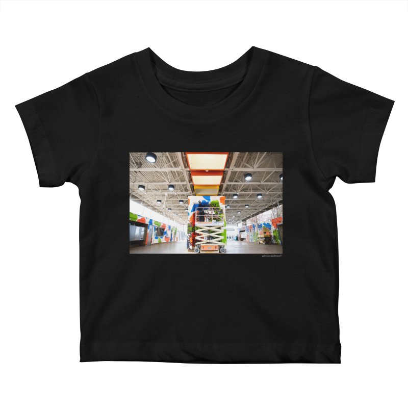 """Shanequa Gay """"Excuse Me While I Kiss The Sky"""" Installation Photo for WonderRoot's Off The Wall Kids Baby T-Shirt by WonderRoot's Artist Shop"""