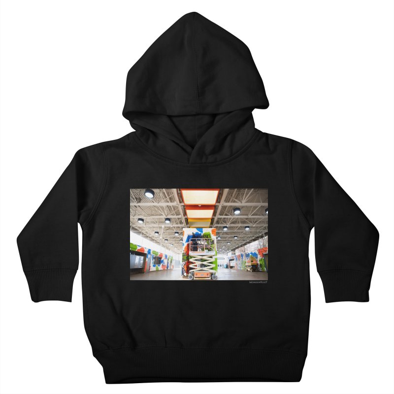 """Shanequa Gay """"Excuse Me While I Kiss The Sky"""" Installation Photo for WonderRoot's Off The Wall Kids Toddler Pullover Hoody by WonderRoot's Artist Shop"""