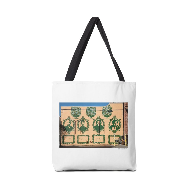"Shanequa Gay ""(re)framing herstory"" for WonderRoot's Off The Wall Accessories Tote Bag Bag by WonderRoot's Artist Shop"