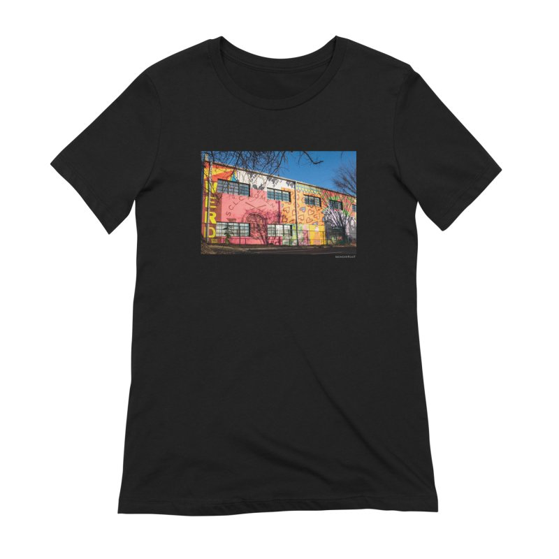 """Shanequa Gay """"Remembering How Sweet Auburn Is"""" for WonderRoot's Off The Wall Women's Extra Soft T-Shirt by WonderRoot's Artist Shop"""